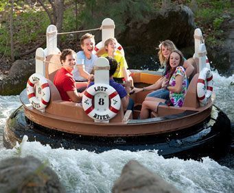 Water ride in Silver Dollar City