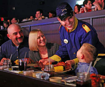 The four course dinner at the Dixie Stampede will fill you up while you enjoy the action packed show.