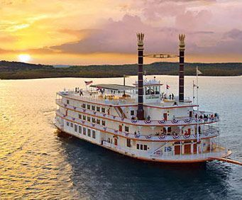 Branson Belle on a sunset cruise