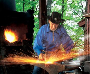 Blacksmith at Silver Dollar City