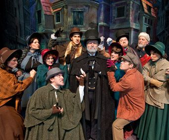 A Christmas Carol show in Silver Dollar City