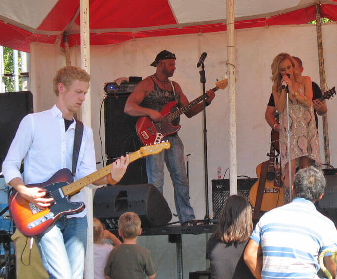 Live music at the festival