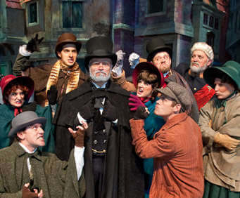 A Christmas Carol at the Silver Dollar City theatre