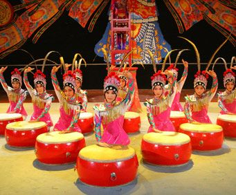 Drum performance during the Acrobats of China show