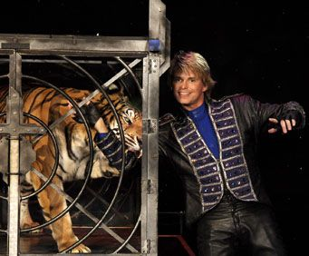 Kirby VanBurch and his tiger
