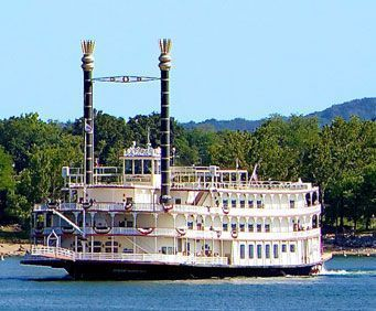 Enjoy a leisurely boat ride on the Branson Belle, Branson's premiere paddleboat complete with its own three-course dinner, and variety show.