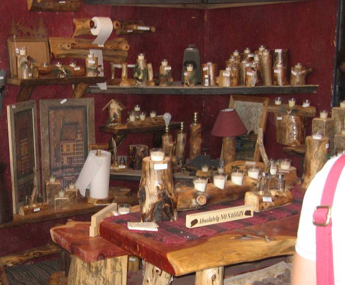 Wooden crafts booth