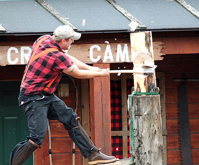 Tall Timber and Tall Tales at Branson's The Tall Timber Lumberjack Show, lumberjack contest