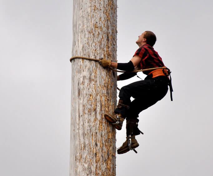 Tall Timber and Tall Tales at Branson's The Tall Timber Lumberjack Show, climbing