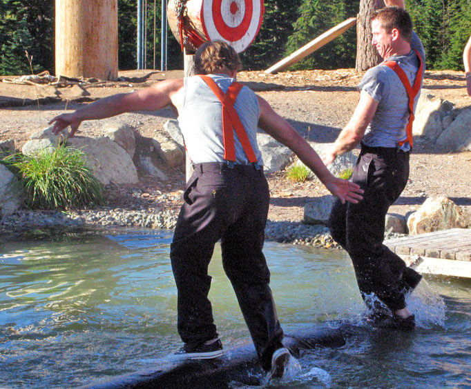 Tall Timber and Tall Tales at Branson's The Tall Timber Lumberjack Show, balancing