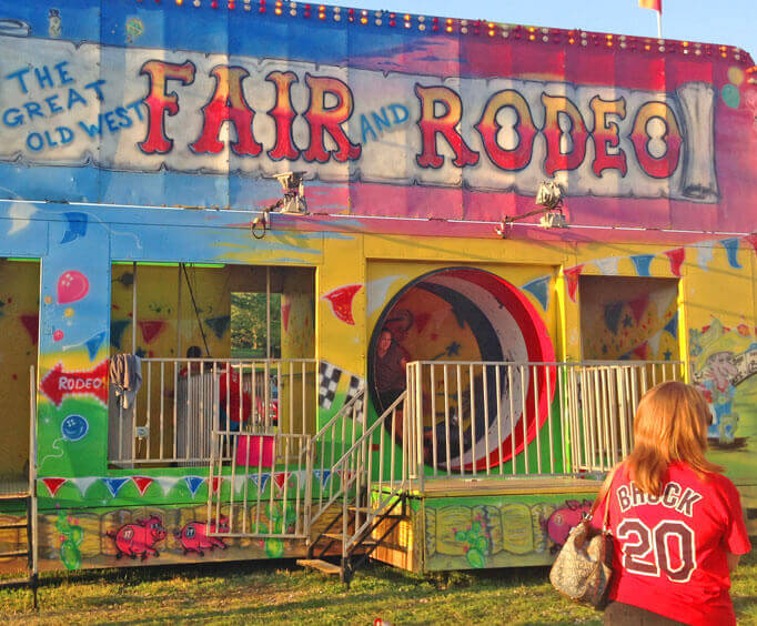 The Great Old West Fair and Rodeo play area