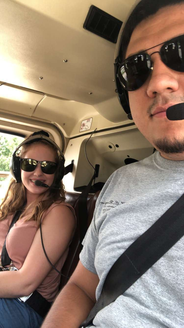 Couple on the Chopper Charter Branson Helicopter Tours