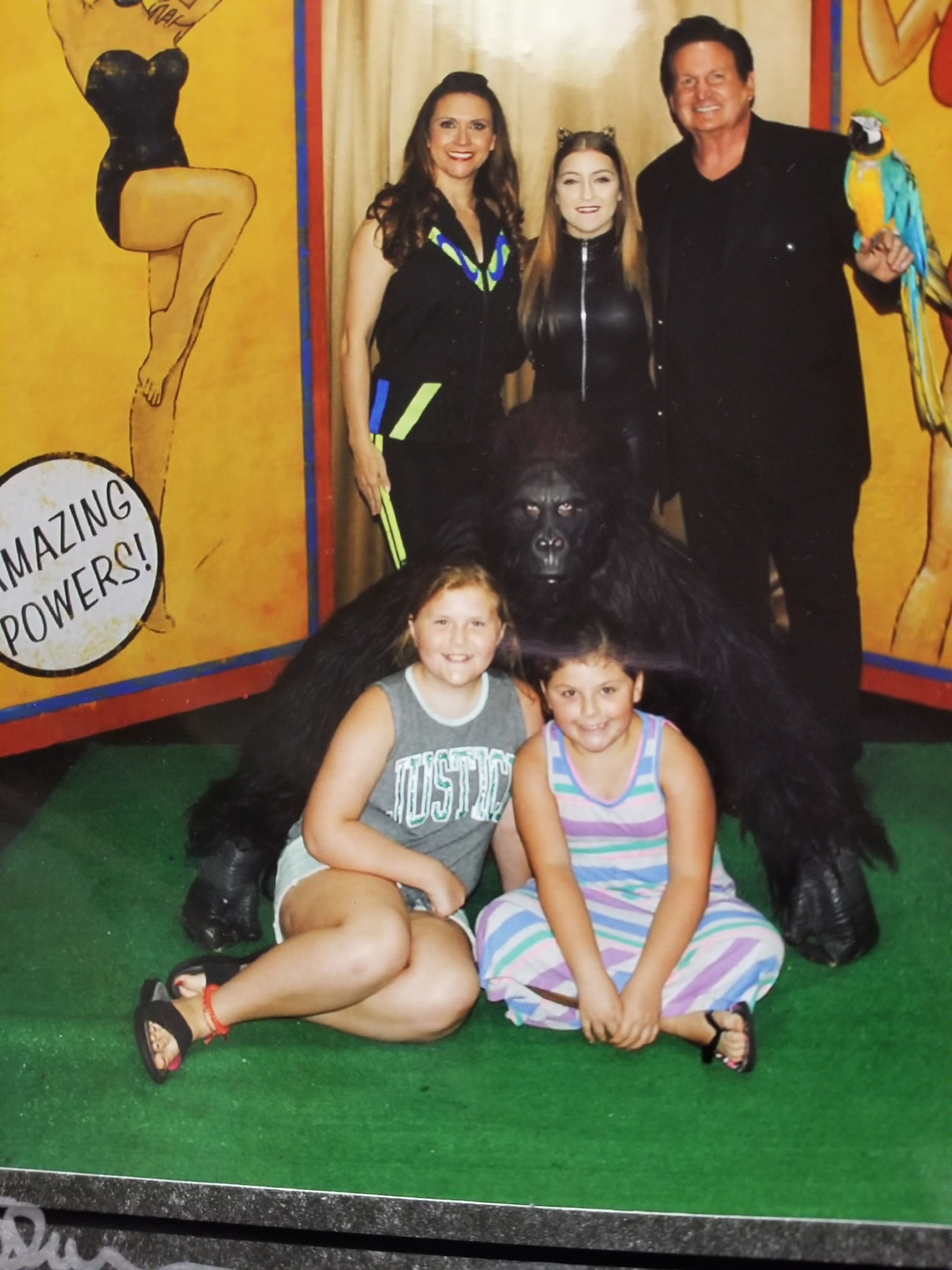 Family with a Gorilla at Hamners' Unvelievable Family Variety Show