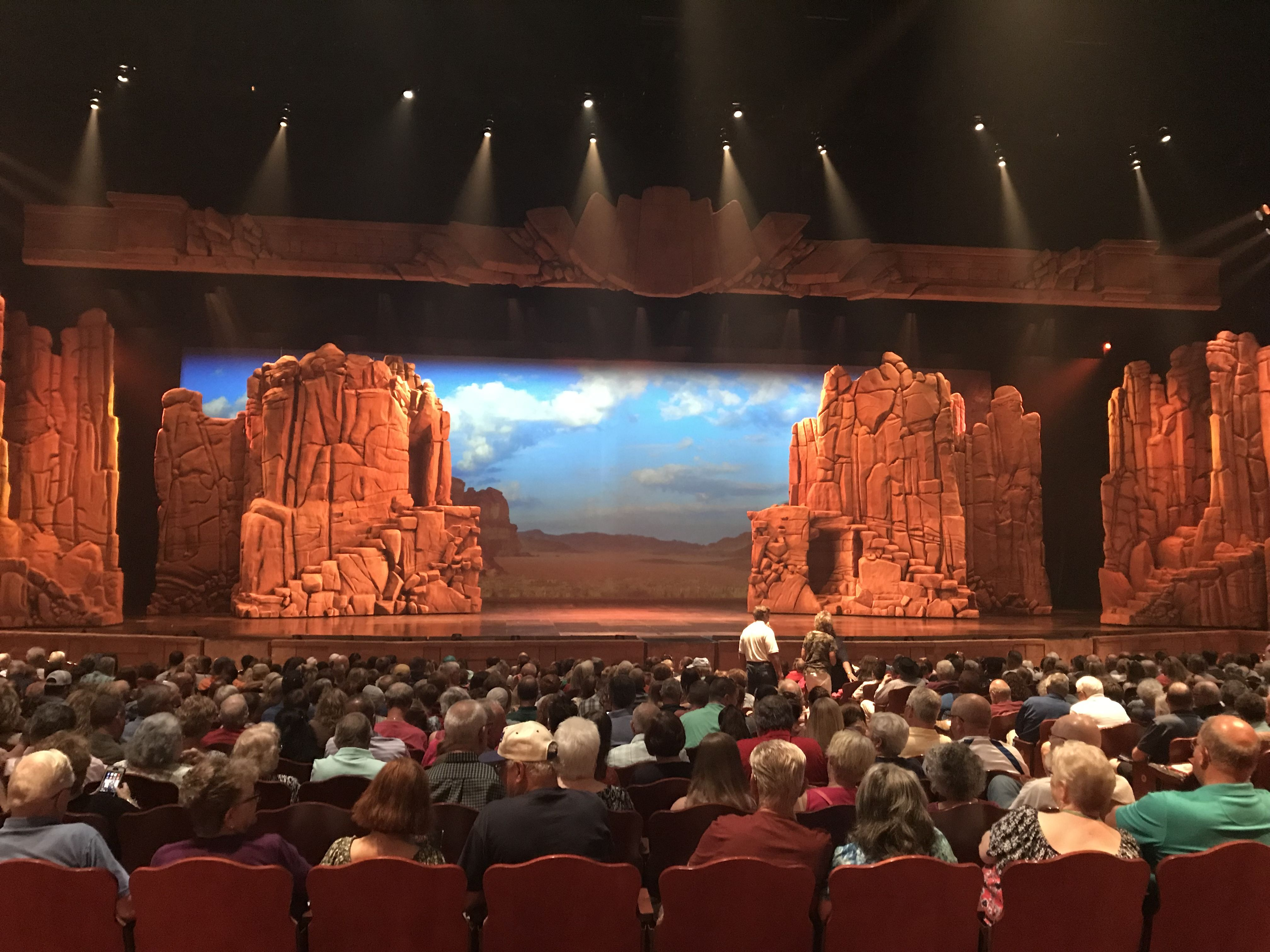 Stage at Samson at Sight and Sound Theatres Branson