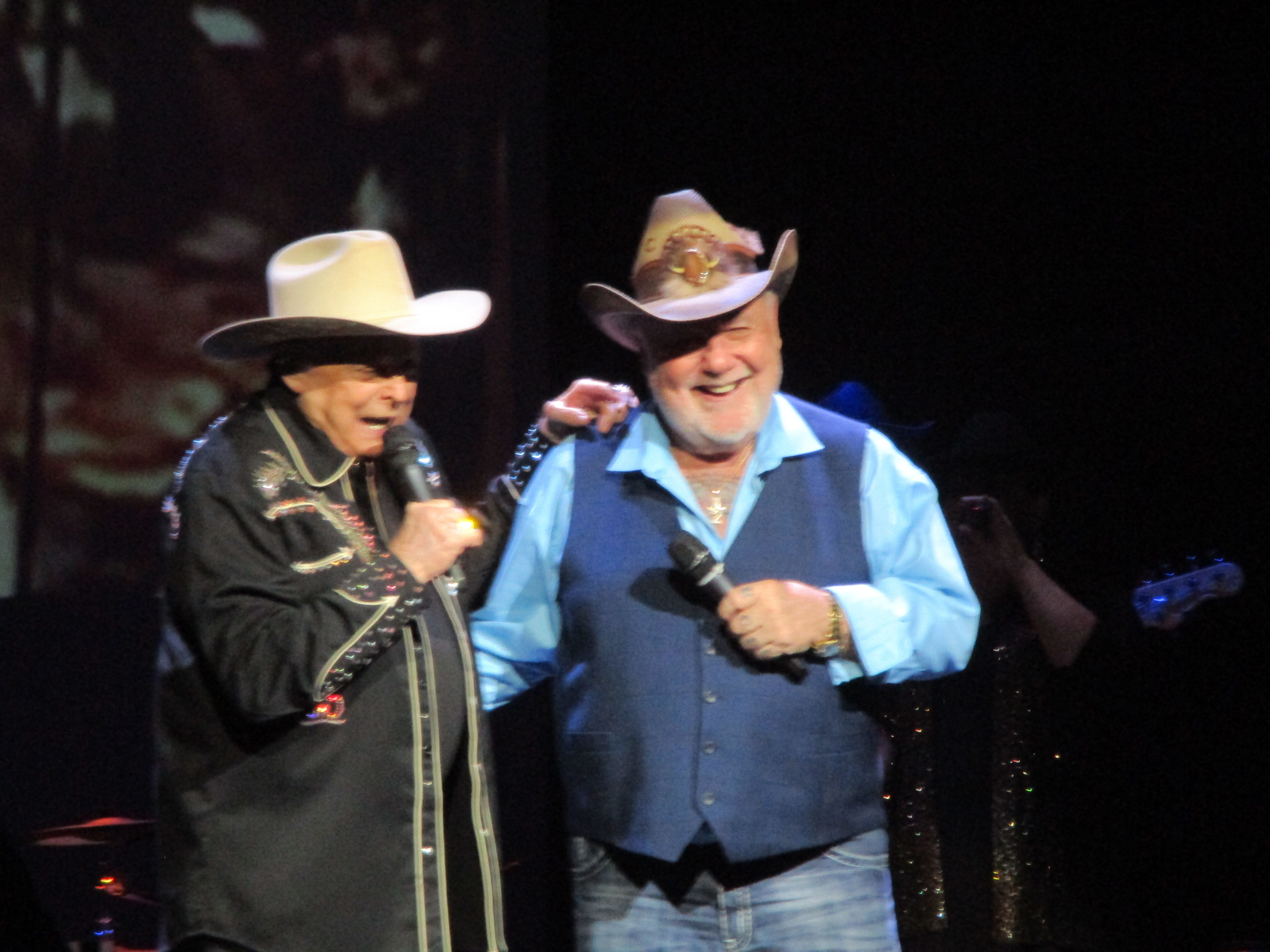 On Stage Together at the Mickey Gilley and Johnny Lee Urban Cowboy Reunion Show