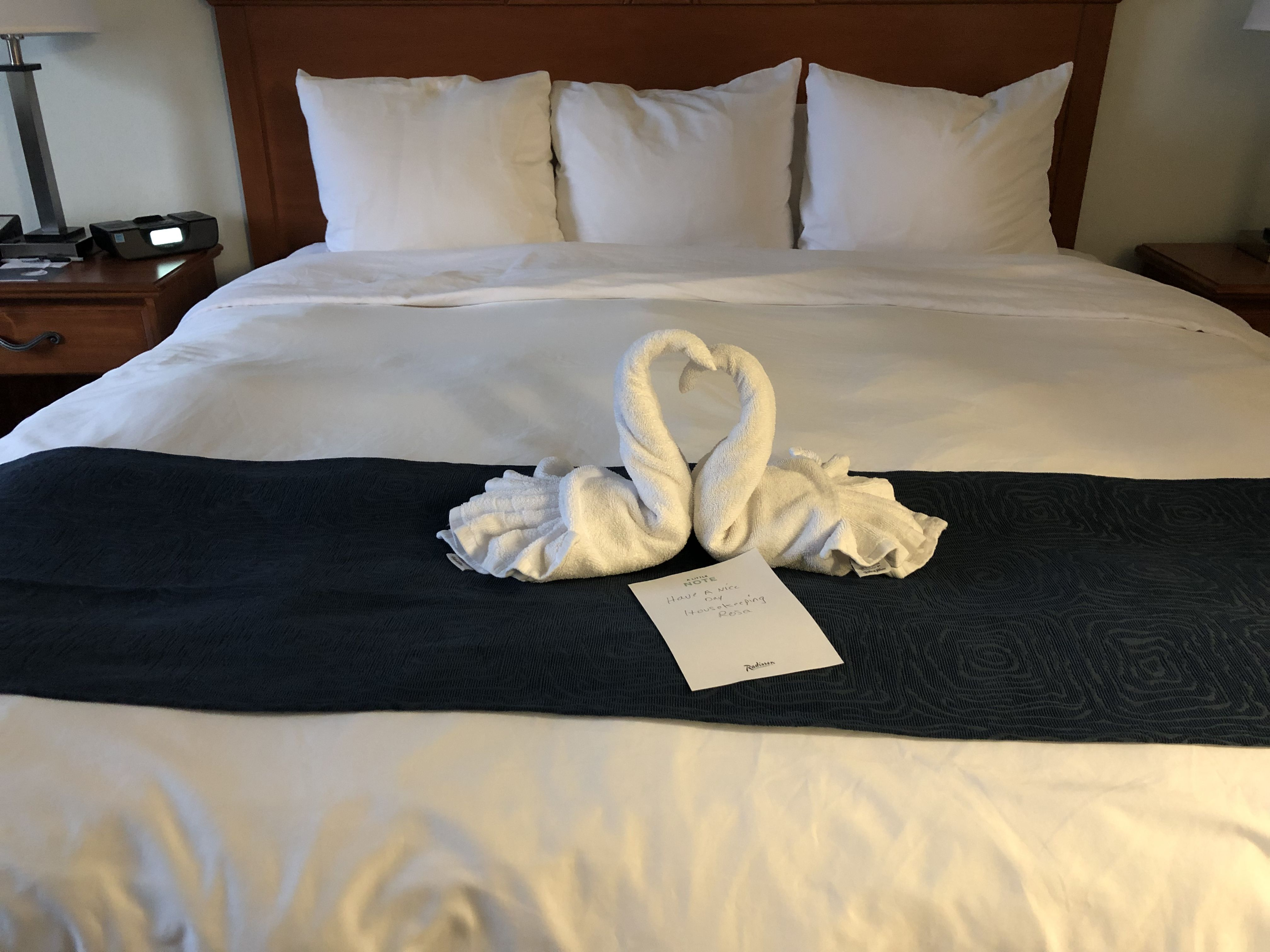 Bed at the Radisson Hotel Branson