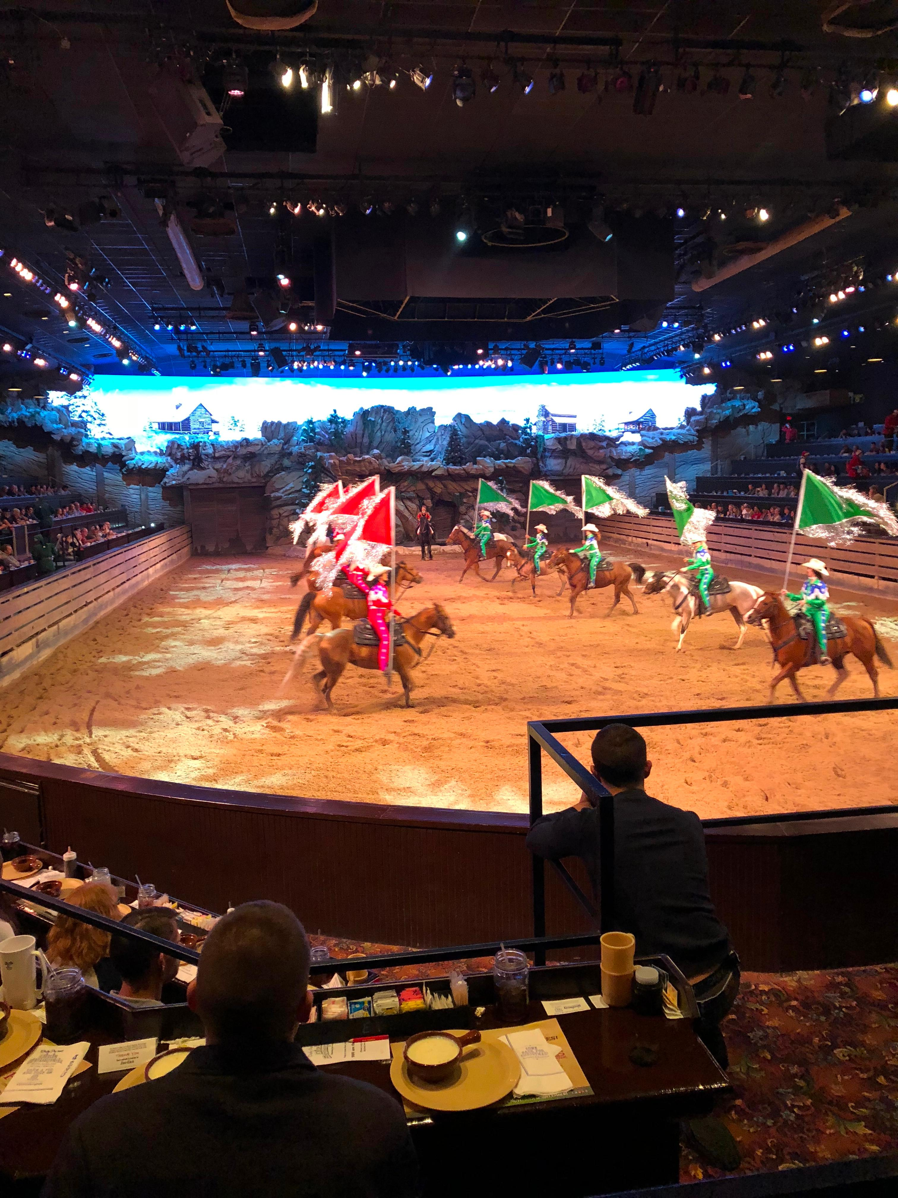 Horseback Riders at Dolly Parton's Stampede Dinner and Show Branson