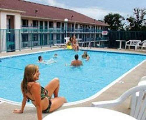Outdoor Pool at American Eagle Inn & Suites