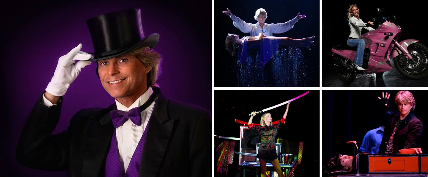 Kirby VanBurch Magic Show Collage
