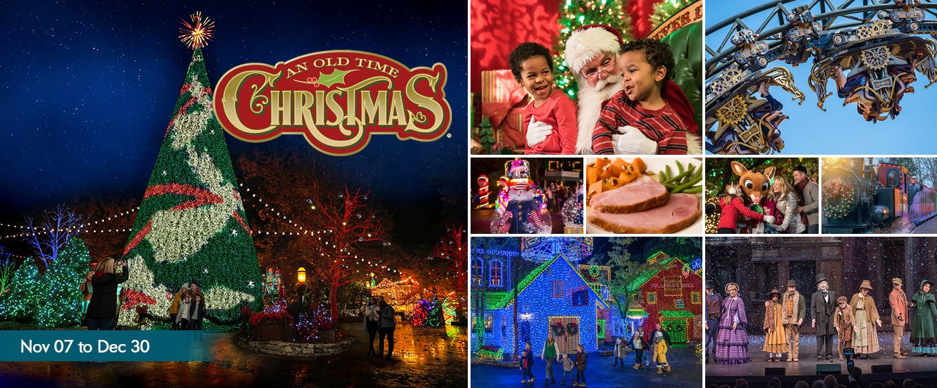 Silver Dollar City Christmas Collage