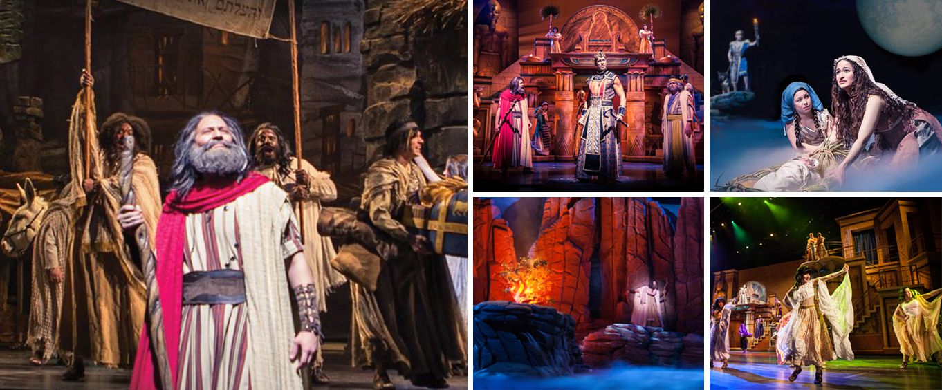 Moses at Sight and Sound Theatres Branson Collage
