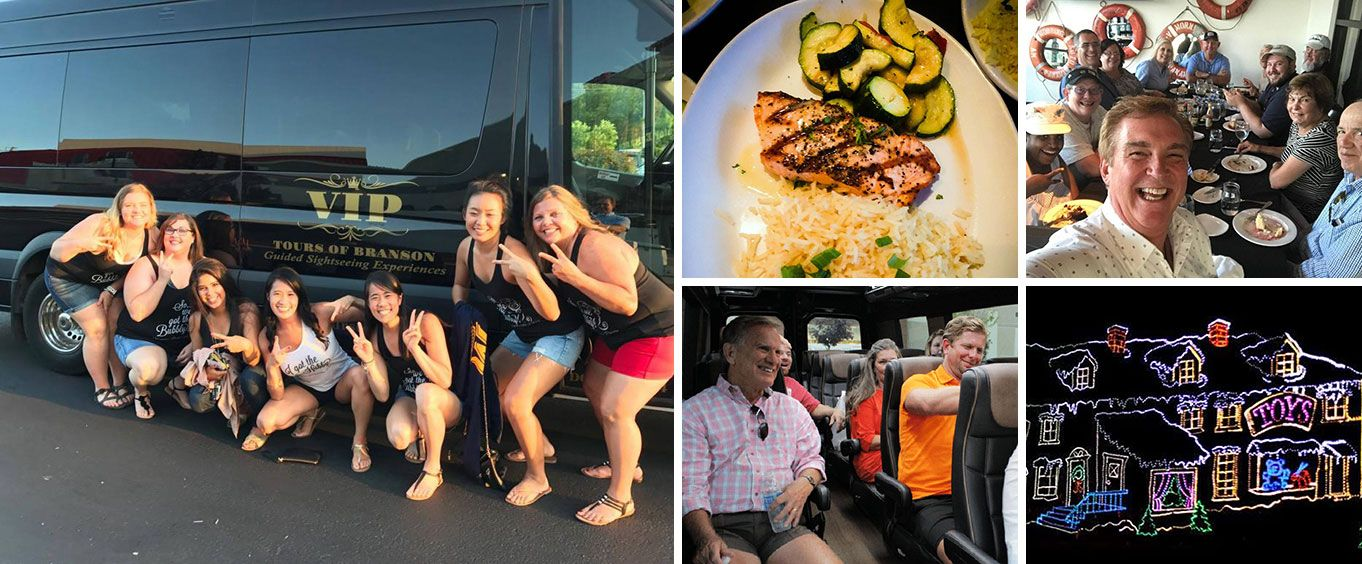 Discover Branson Luxury Mercedes Van Tour Collage