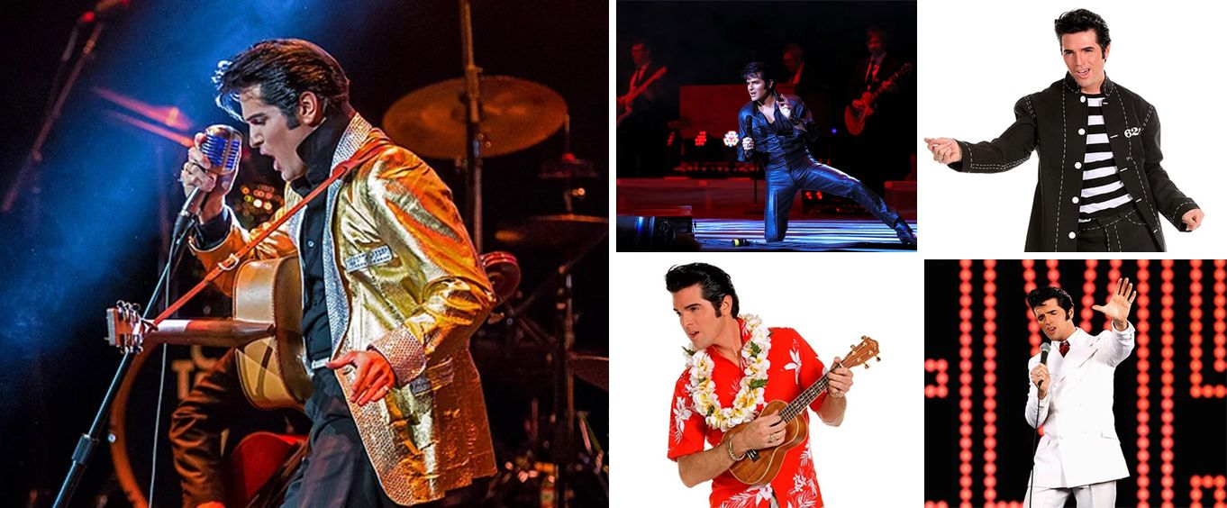The Dean Z Show A Tribute to Elvis Presley Collage